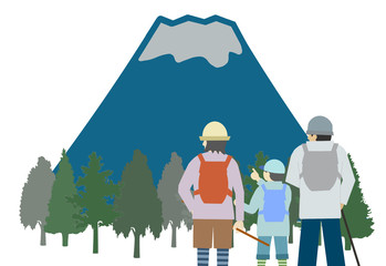 家族で富士登山