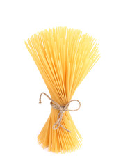Close up of Spaghetti isolated.