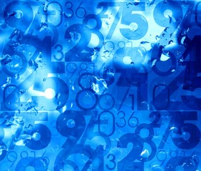 blue fresh cool numbers background