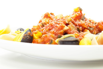 How about eating some italian noodles with tomato sauce?
