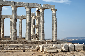 Poseidon Temple at Cape Sounion, Attica, Greece