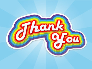 """""""THANK YOU"""" Card (thanks appreciation gratitude very much a lot)"""