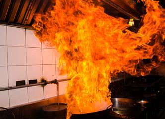 Stir fire very hot