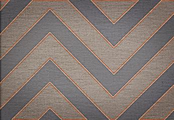 Klasyczny brązowy streszczenie szewron wzór tła płótnie tekstury - 53964056