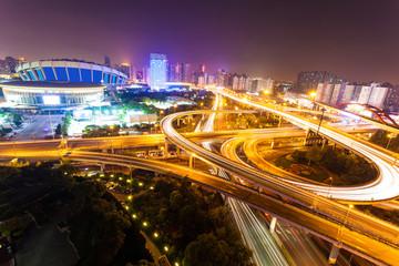 Flyover in modern city
