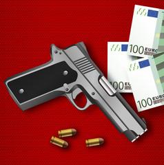 criminalité - pistolet - banditisme - rançon - terrorisme - trafic de drogue
