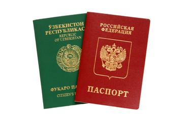 Russian and Uzbekistan passports