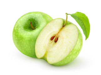 Green apples isolated on white