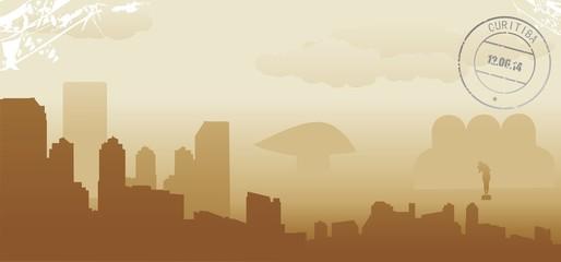curitiba abstract skyline
