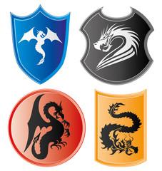 Dragon icons.