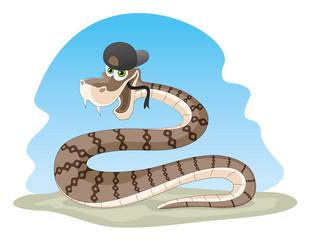 Cartoon snake.