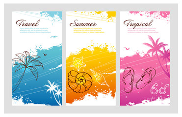 Color summer set with splash