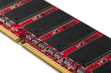 Close-up of computer RAM module