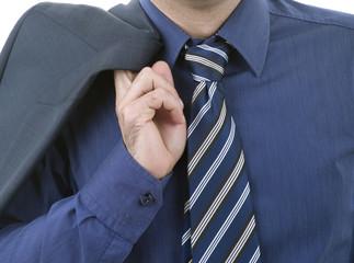 blue tie