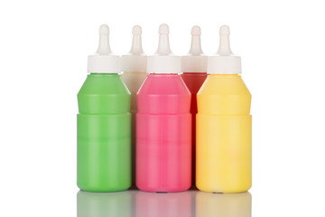 Bottles of paint
