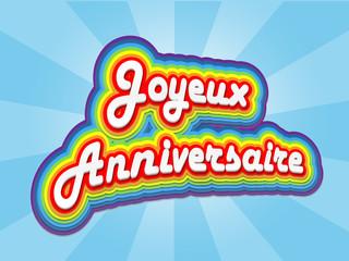 """Carte """"JOYEUX ANNIVERSAIRE"""" (fête voeux amitiés félicitations)"""