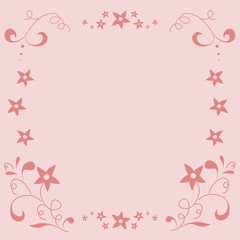 modern floral background or frame