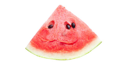 Slice of fresh water melon