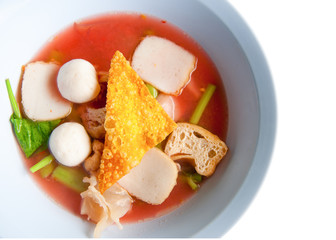 Thai Noodle Style Isolated on White Background