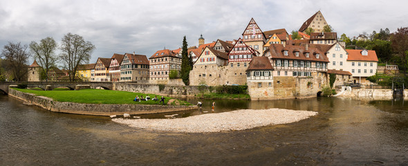 Panorama of Schwabisch Hall Germany