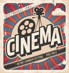 Retro cinema poster