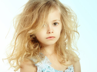 Portrait of pretty little girl