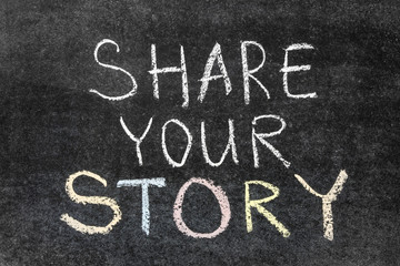 Wall Mural - share your story