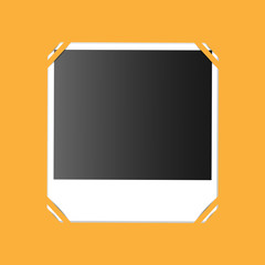 photo on an orange background