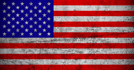 Dark grunge textured US Flag.