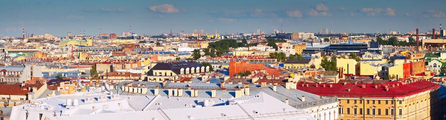 Top view of city. Saint Petersburg, Russia