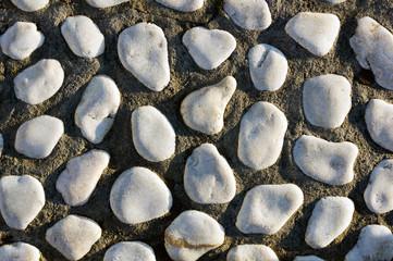 white stone textured pattern on floor