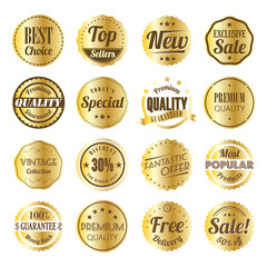 Retro labels gold style