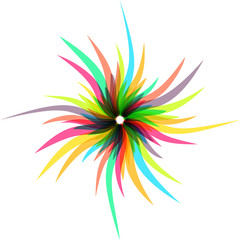 abstract colorful swirl shape