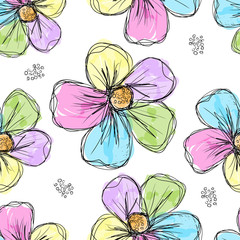 Canvas Prints Abstract Floral Floral seamless background for your design