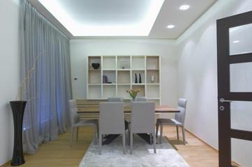 contemporary dining room interior