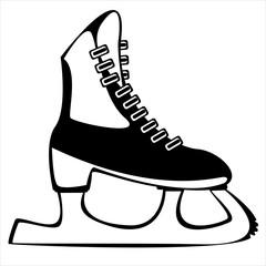 skates for figure skating on white background