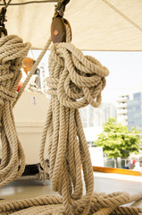 Tied up ropes
