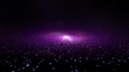 purple galaxy light