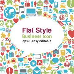 Flat style talk icon -- business concept