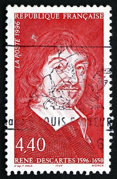 Postage stamp France 1996 Rene Descartes, Philosopher