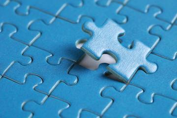 Das letzte fehlende Stück in einem Puzzle