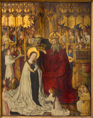 Wall Mural - Vienna - Coronation of holy Mary  in church Maria Am Gestade