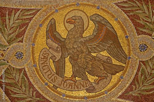 Madrid Mosaic Of Eagle As Symbol Of Saint John The Evangelist