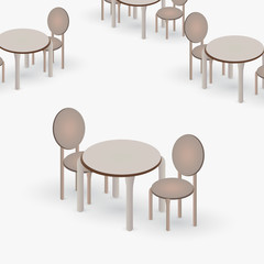 Table with a pair of chairs