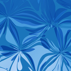 Abstract Blue Vectors Flowers