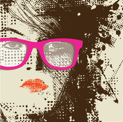 Acrylic Prints Woman face Women in sunglasses