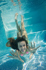 Foto op Plexiglas Zeemeermin bonheur sous-marin