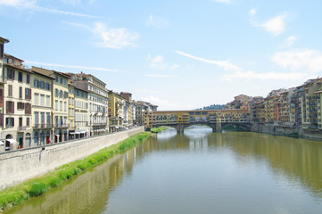 Famous Ponte Vecchio in Florence, Italy