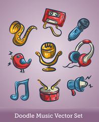 Music set doodle