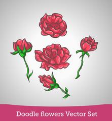 Doodle flower set